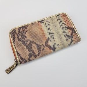 [Adrienne Vittadini] Snakeskin Leather Wallet
